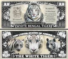White Bengal Tiger Million Dollar Bill Collectible Fake Funny Money Novelty Note