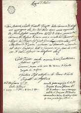 Richiesta di Inserimento Protocollo Regno d'Italia Migliaro Po di Volano 1809