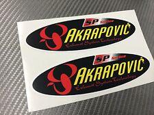 2 Adesivo Stickers AKRAPOVIC SP Series Old resistente al calore 14 cm