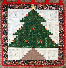Christmas Tree Quilt Original Quilted Wall Hanging Large Machine Stitching