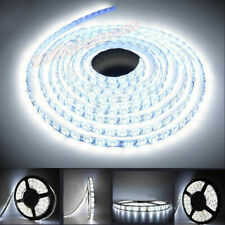 12V 5M COOL WHITE LED 3528 SMD FLEXIBLE WIRE STRIP LIGHT ROPE WATERPROOF UK HOT