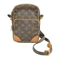 Louis Vuitton Amazon M45236 Monogram Pochette Crossbody Bag Shoulder Brown Gold