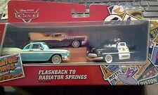 """Disney Pixar Cars Flashback to Radiator Springs 3-pack with Derek """"Decals"""" Dobbs"""