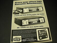 KRACO offers KASSETTE AUTOSTEREOS clever 1969 PROMO DISPLAY AD mint condition