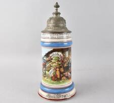 Antique German Porcelain Beer Stein Occupational Swiss Cheese Maker c.1890