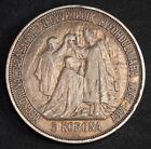 1907, Hungary, Francis Joseph I. Silver 5 Korona Coin. Coronation Anniversary!