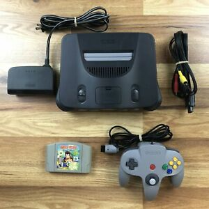 Nintendo 64 N64 System Console Diddy Kong Racing Bundle Tested