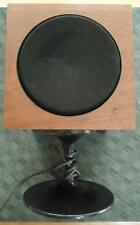 Vtg RARE Wollensak Stereo Speaker Walnut Cabinet on Black Pedestal Mid-Century