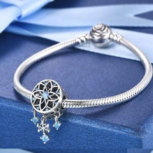 New 925 Sterling Silver Dreamcatcher Beads Charms Fiit Original Pandora Bracelet