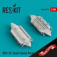 ResKit 48-0175 BRU-55 Smart bomb Racks for F-18 (2 pcs) 1/48