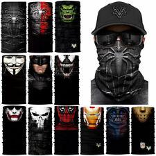 Super Hero Villain Face Mask Cover Multi Function Tube Scarf Snood Superhero Hat