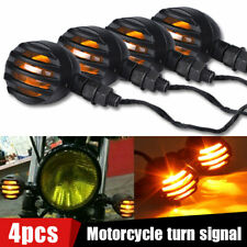 4x Motorcycle LED Turn Signal Light Bullet Brake Blinker For Bobber Cafe Racer