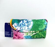 Sonia Kashuk Floral Print Double-Zip Foldover Makeup Cosmetic Bag
