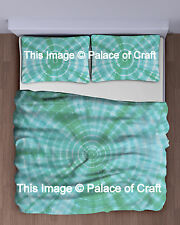 King Indian Tie Dye Shibori Mandala Wall Hanging Bed Sheet Bedspread Bedding Set