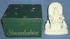 Department 56 Snowbabies Crown Me White Little Boy Penguin Figurine Porcelain