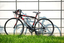 New 54cm Aluminum Bicycle 21 Speed 700C Road Bike Racing Shimano Merax -Red