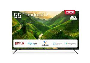 Tv 55 pulgadas 4K LED con Smart TV (Android TV) y WiFi  Envío España