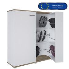 Schuhschrank Cube - in Eiche/Weiss Kommode Sideboard Schuhregal Schuhablage Flur