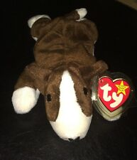 TY Beanie Babies Baby BRUNO The BULL Dog 1997 Tag Protector