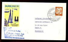 Germany 1962 First Flight Cover, FFC Stuttgart -  Paris #C4782