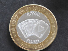 1994 Gold Coast Casino Royal Flush Silver Strike Las Vegas Nevada D5834