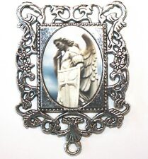 Extra LARGE Silver Rosary Center Part | St. Michael Archangel | Rosary Supplies