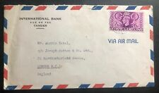 1949 Tangier Morocco British PO Airmail International Bank Cover to England