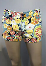 Mossimo Supply Co Women's Size 7 Multi Colored Floral Hi Rise Short Shorts