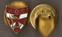 Politique-Insigne de la JOC - 1940 Jeunesse Ouvrière Chrétienne émail Arthus B.