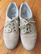 Women's ECCO Lace Up Casual Walking Shoe Beige Nude Suede 42 EU / 11-11.5 US