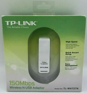 TP-LINK Wireless N USB Adapter TL-WN727N 150Mbps High Speed Secure Quick Setup