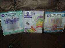 Wilton Large Lot of Cake Decorating Supplies-Courses New + 5 layer Cake Pan Set