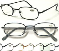L79 Superb Quality Mens Reading Glasses Robust Metal Frame Spring Hinges Comfort