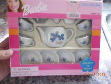 Unused 2001 Schylling Barbie China Tea Set, Missing Sugar Bowl and Lid