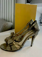 FENDI - Gold  Shimmer - Strappy Evening Party Heels - Size 8 (41)