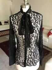 TOM FORD SEE-THROUGH BLACK BLOUSE SIZE 42