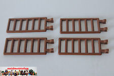 4X Lego® 6020 Piraten Castle Leiter Gitter Zaun Ladder 7X3 mit Clip braun Brown