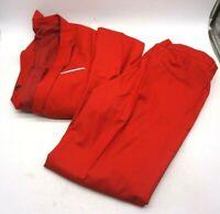 Yimanie Men's Sz XL Red 2 Piece Suit