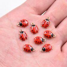 10PC Cute Ladybird Enamel Charm Pendant 11*9 MM For DIY Earrings/Bracelet
