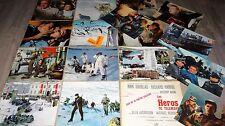 LES HEROS DE TELEMARK ! kirk douglas jeu 16 photos cinema lobby cards 1966 ski