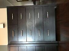 Tallboy Dresser 6 Chest of Drawers Table Cabinet Bedroom Storage Walnut Wood