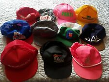 Lot Of 11 Vintage Trucker Snapback Patch Caps Hats Hooters 3M Imi Jockey dual