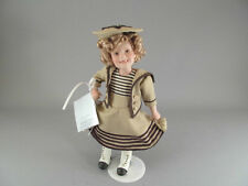 "Shirley Temple Wee Willie Winkie Doll Danbury Mint Porcelain 10"" Movie Classics"
