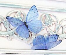 Forget me Not Blue Butterfly Decorations 4 in Flight 3D Sparkling Butterflies