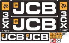 JCB 3CX 14FT Backhoe Decal / Adhesive / Sticker Complete Set