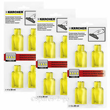 KARCHER Window Vac WV Glass Cleaner Concentrate 12 x 20ml Capsules Sachets 3 Pk