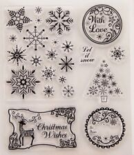 NEW Let It Snow Clear Christmas Stamp Set - contains 7 stamps