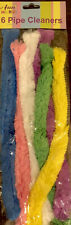 Giant Pipe Cleaners - Ideal For Decorating & Easter Crafts - 32cm Long 6 Colours