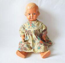Vintage Antique German Schoberl & Becker Cellba Celluloid Girl Doll w Glass Eyes