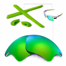 New WL Polarized Emerald Lenses And Rubber Kit For Oakley Fast Jacket XL
